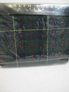 RARE Ralph Lauren TARTAN Green Plaid Checked Fitted Sheet - King