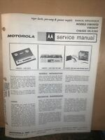 Motorola -Service Manual- For VM100TD & VM100TP Tape Deck,Pre-Amp. Chassis 2350