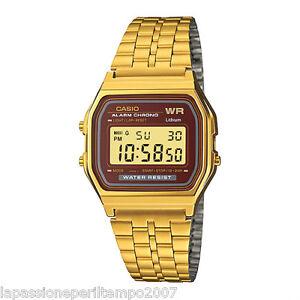 NEW Casio Unisex Watch Rolled Gold Digital Vintage Style A 15 WGEA - 5df