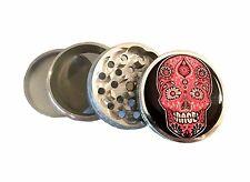 Pink Sugar Candy Skull Hip Herb Kitchen Metal Grinder Dia de Muertos Day of Dead