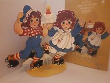 """Hallmark Raggedy Ann and Andy Centerpiece 11 3/4"""" Tall 1978 **missing peices**"""