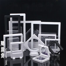 Clear Jewelry Suspended Coins Floating Display Case Stand Holder Box PRETTY