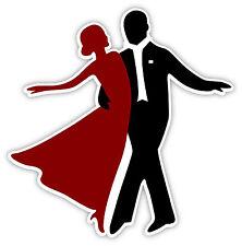 Sala da ballo danza ballroom dance etichetta sticker 12cm x 12cm