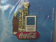 ATHENS 2004 OLYMPIC LAPEL PIN COLLECTIONS: COCA-COLA COKE bottle Greek Ruin Gate