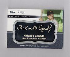 ORLANDO CEPEDA 2010 TOPPS BLACK BAT BARREL CARD #5/25 GIANTS
