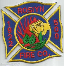 """Roslyn, PA  (4"""" x 4"""" size)  fire patch"""