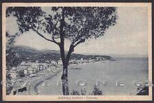 SAVONA ALBISSOLA 58 MARINA SPIAGGIA Cartolina viaggiata 1938