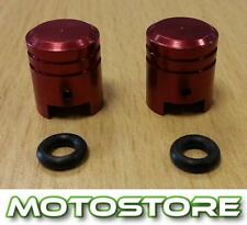 PAIR OF RED PISTON VALVE CAPS FITS SUZUKI GSF600 BANDIT 1995-2004