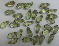 15g Green Acrylic 17mm Faceted Prism Bead Drops, Beading,Suncatchers,Craft BD208