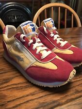 KangaRoos Women's Vintage Sneakers Lotus Side Zip Pockets Yellow Pink Size 8 Exc