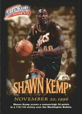 Cartes de basketball originaux shawn kemp