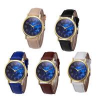 Women's Leather Band Retro Design Wrist Watch Analog Alloy Quartz Casual Watches