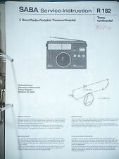 service-instruction Saba TRANSCONTINENTAL RADIO, Origina