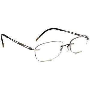 Silhouette Eyeglasses 5227 40 6052 Brown Rimless Metal Frame Austria 51[]17 140