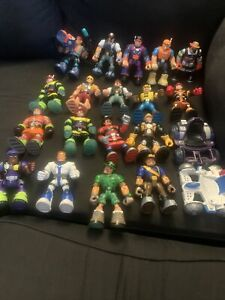 Large Lot Fisher Price Rescue Heroes 18 Action Figures 2 Vehicles