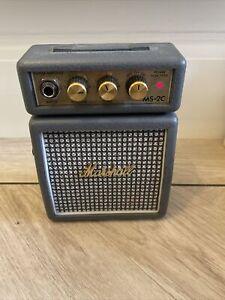 Marshall MS-2C Micro Guitar Amplifier Mini Amp - Grey