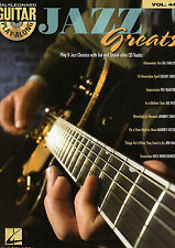 Guitar Playalong JAZZ SONGS TAB Sheet Music Book & CD Playalong Backing Tracks