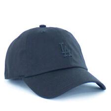 Los Angeles Dodgers La 47 Clean Up Hat Mens Baseball Training Runner Dad Cap Blk