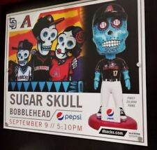 ARIZONA DIAMONDBACKS SUGAR SKULL DAY OF THE DEAD SGA 9/9 BOBBLEHEAD