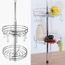 Teleskop Küchenregal 50 - 70cm mit 2 Körben und 6 Haken Küchen Regal Gewürzregal