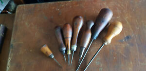 Vintage Leather workers Awls & Bagging needle