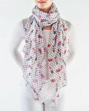 Printed Village LIPSTICK POLKA DOT SCARF Shawl Wrap Multi-Color Reg $38.00