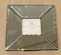 Vintage Pottery Barn Mirror Picture Frame Art Deco Beveled Square New Desk top