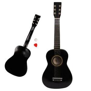 "Xmas Gift 21"" Acoustic Guitar Mini Instrument for Kids & Pick + String Black"