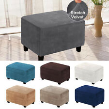 Stretch Footstool Cover Velvet Ottoman Slipcover Stretch Table Stool Protector