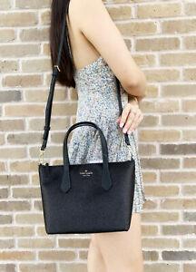 Kate Spade Joeley Glitter Ina Small Satchel Crossbody Bag WKRU6281 Black