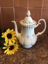 Royal Albert Memory Lane Blue Flower Coffee Pot Mint Condition