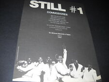 The Commodores are Still Number One on Motown 1979 Promo Poster Ad mint cond