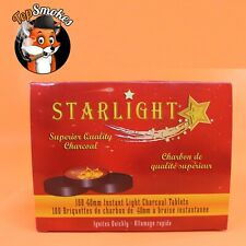 100 Pieces STARLIGHT 40 MM Hookah Coal Quick Lite Shisha Charcoal Incense 1 Box