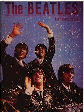 "VINTAGE POSTER~Beatles London England 1964 Confetti 23x17.25"" Music Print New~"