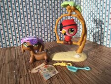 Littlest Pet Shop LPS #307 Pirate Dachshund Dog Target Exclusive 2006 Parrot 331