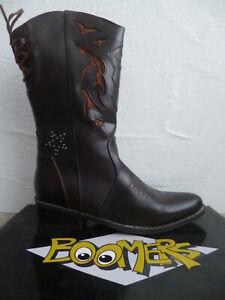 Boomers Botas de Cowboy Botas Vaqueras Botas Botines Braun Nuevo
