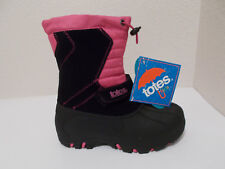 NEW GIRLS TOTES JOSIE WATERPROOF PINK BLACK WINTER SNOW BOOTS SZ 2 YOUTH $64.99