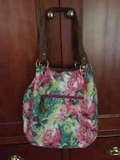 Accessorize Cotton Floral Bag With Faux Leather Straps.