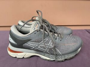 ASICS Gel Kayano 25 1012A026 Women 7.5 Carbon Mid Grey Athletic Running Shoes D5