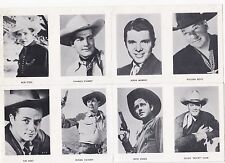 Vintage 1940's/50's Sheet of 12 Western Star Mini Photo's Starret/Murphy/Boyd