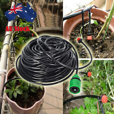 AU 25m Plant Self Watering Garden Hose Kits Micro Dripper Irrigation System DIY