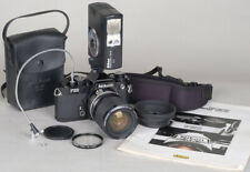 SERVICED Nikon FE2 TITANIUM 35mm SLR Camera  w/35-105mm Nikkor + SB-15