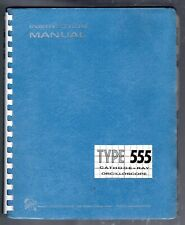 Instruction  Manual for the Tektronix 555 Dual-Beam Oscilloscope