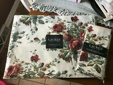 RALPH LAUREN FLORAL RED ROSES   NEW 4 PLACEMAT''S AND 4 NAPKINS