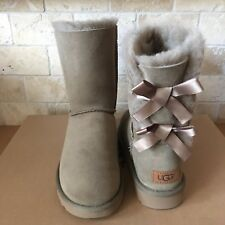 UGG SHORT BAILEY BOW BOWS II ANTELOPE SUEDE BOOTS SIZE US 10 WOMENS