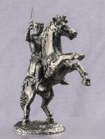 Zinnfigur 40mm Equestrian knight Miniature figurine of a RIDER Toy soldiers 1/43