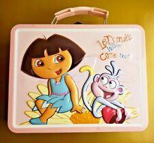 """*RARE*  Dora The Explorer Collectible """"Tin Box"""" Lunch Box ~ Nick Jr. ~ EXCELLENT"""
