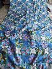 TOWELLING FABRIC PSYCHEDELIC RETRO BOHO VINTAGE 190'' X 37''  BEACH OR GARDEN