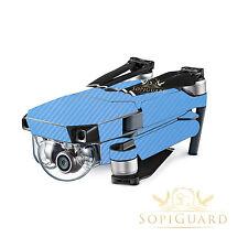SopiGuard Sky Blue Carbon Skin Wrap Battery Controller for DJI Mavic Pro