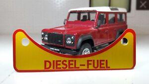 Genuine Land Rover Defender 90 110 TD5 TDCi TDi Diesel Fuel Filler Warning Badge